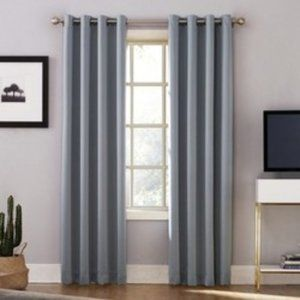 Sun Zero Lichtenberg Grey Blackout Curtain Panel